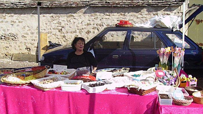 Stand Bonbon Friandises - Fête du pain, du vin et du fromage - Epoisse 2011