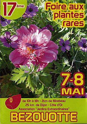 Brochure foire aux plantes rares de bezouotte