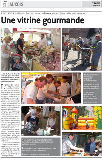 Article du bien public - Epoisse 2011