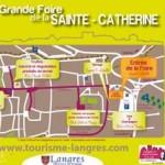 Foire sainte catherine langres 2012 plan