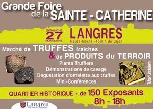 Foire sainte catherine langres 2012 affiche