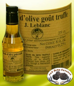 Huile d'olive vierge extra gout truffe 25cl