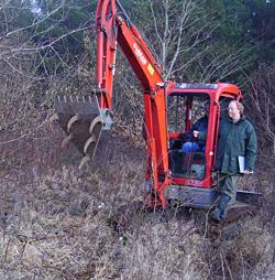 Préparation d'une plantation truffière