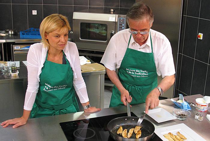 Démonstration culinaires à Boncourt sur Meuse