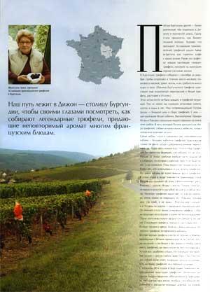 Article Russe sur la Truffe de Bourgogne - page 1